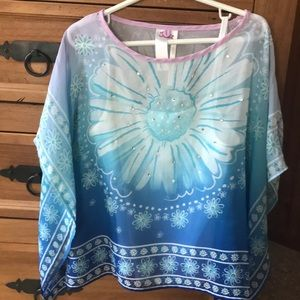 Justice blouse size 7